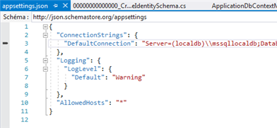 ConnectionString dans le fichier aasettings.json