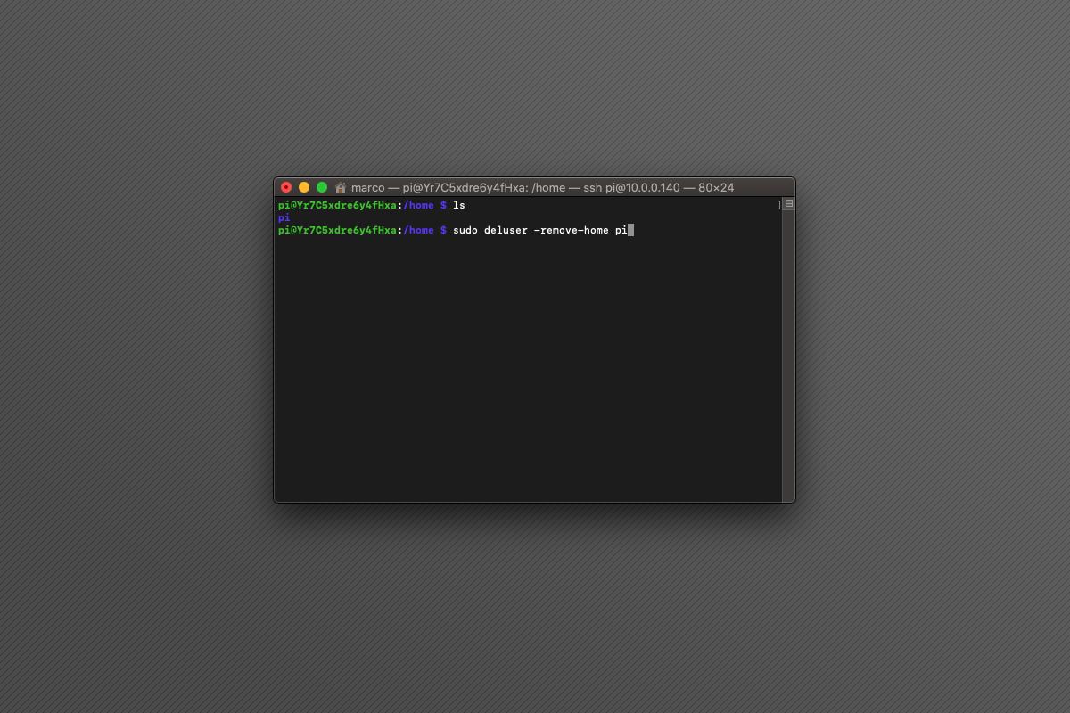 Come rimuovere utenti su Raspberry Pi