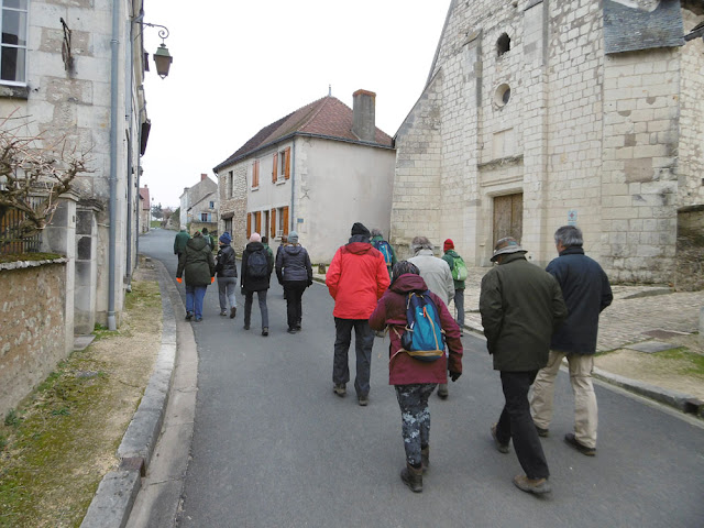 Walking group.  Indre et Loire, France. Photographed by Susan Walter. Tour the Loire Valley with a classic car and a private guide.