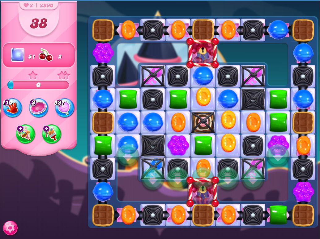 Candy Crush Saga level 3890