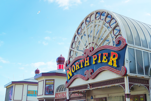 illuminated Blackpool 'north pier' entrance sign