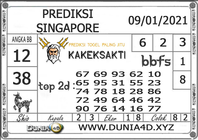 Prediksi Togel SINGAPORE DUNIA4D 09 JANUARI 2021