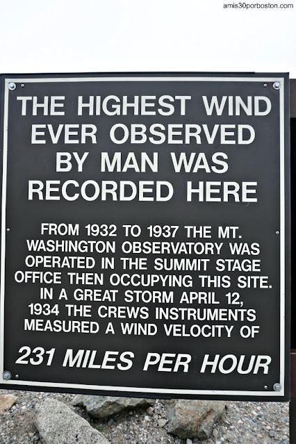 Carteles Informativos en la Cima de Mount Washington