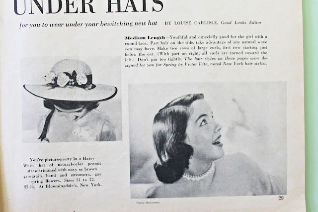 how to style your hair with a vintage hat