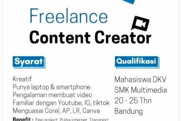 Loker Bandung Freelance Content Creator Instafood Storie