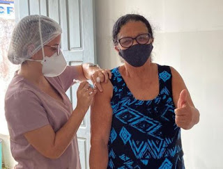 O municipio de Itiruçu recebe 410 doses de vacina contra a Covid-19