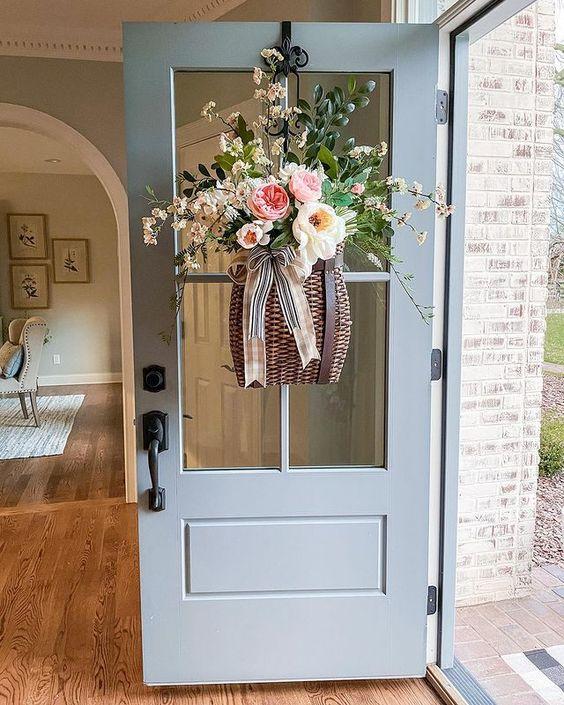 Door Basket Flower Arrangement