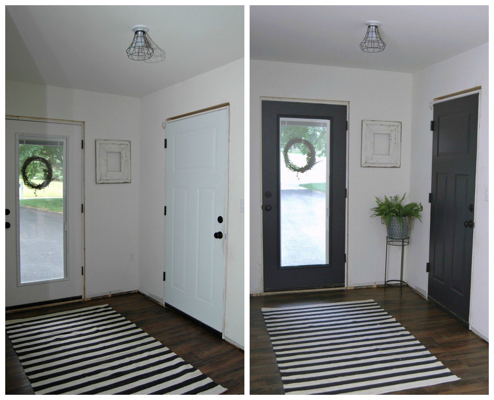 Mudroom Progress Paint Makes All The Difference Little