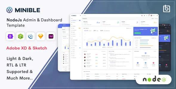 Best Node.js Admin & Dashboard Template