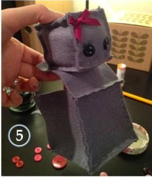 Cara Membuat Kerajinan Tangan Dari Kain Flanel | Boneka Robot 5