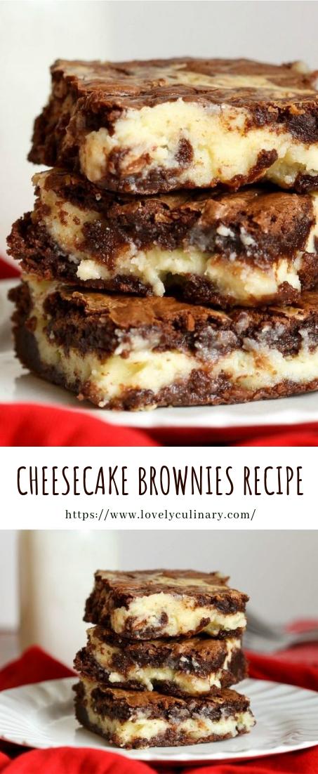 CHEESECAKE BROWNIES RECIPE #dessert #cheesecakerecipe