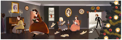 Google Doodle - scene from Little Women by Louisa May Alcott