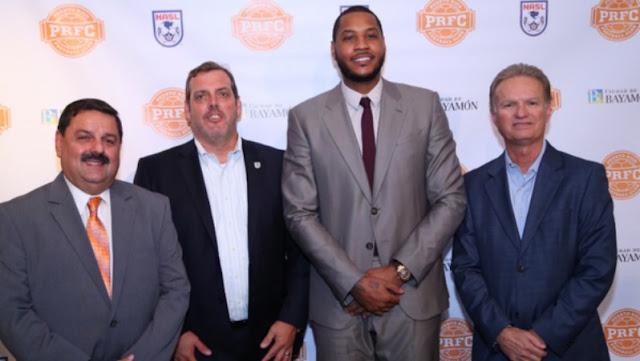 Carmelo Anthony funda su propio equipo de fútbol