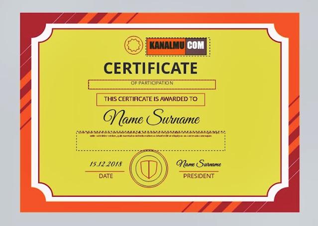 Desain sertifikat keren untuk peserta PKL