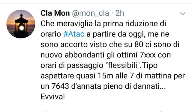 Situazione Trasporto Pubblico Roma 24 giugno 2019