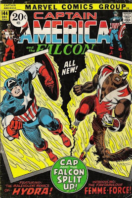 Captain America and the Falcon #144, Cap and Falc break up, Femme Force, John Romita cover