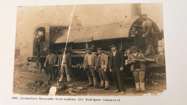 Foto de la exposición sobre el ferrocarril de Triano