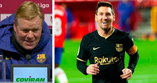 Koeman speaks on his closeness to Messi: 'My relationship with Messi has been great'