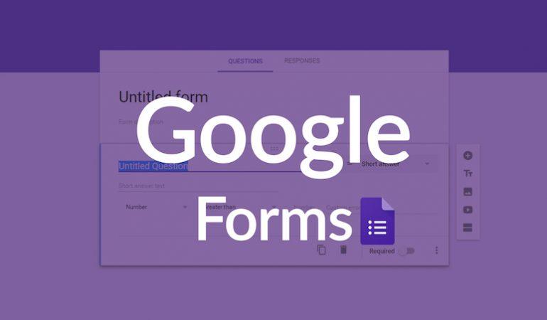 Hướng dẫn tạo Google Form trong Google Drive