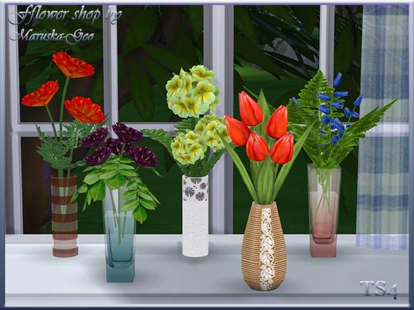 my sims 4 blog flower shop by maruskageo. Black Bedroom Furniture Sets. Home Design Ideas