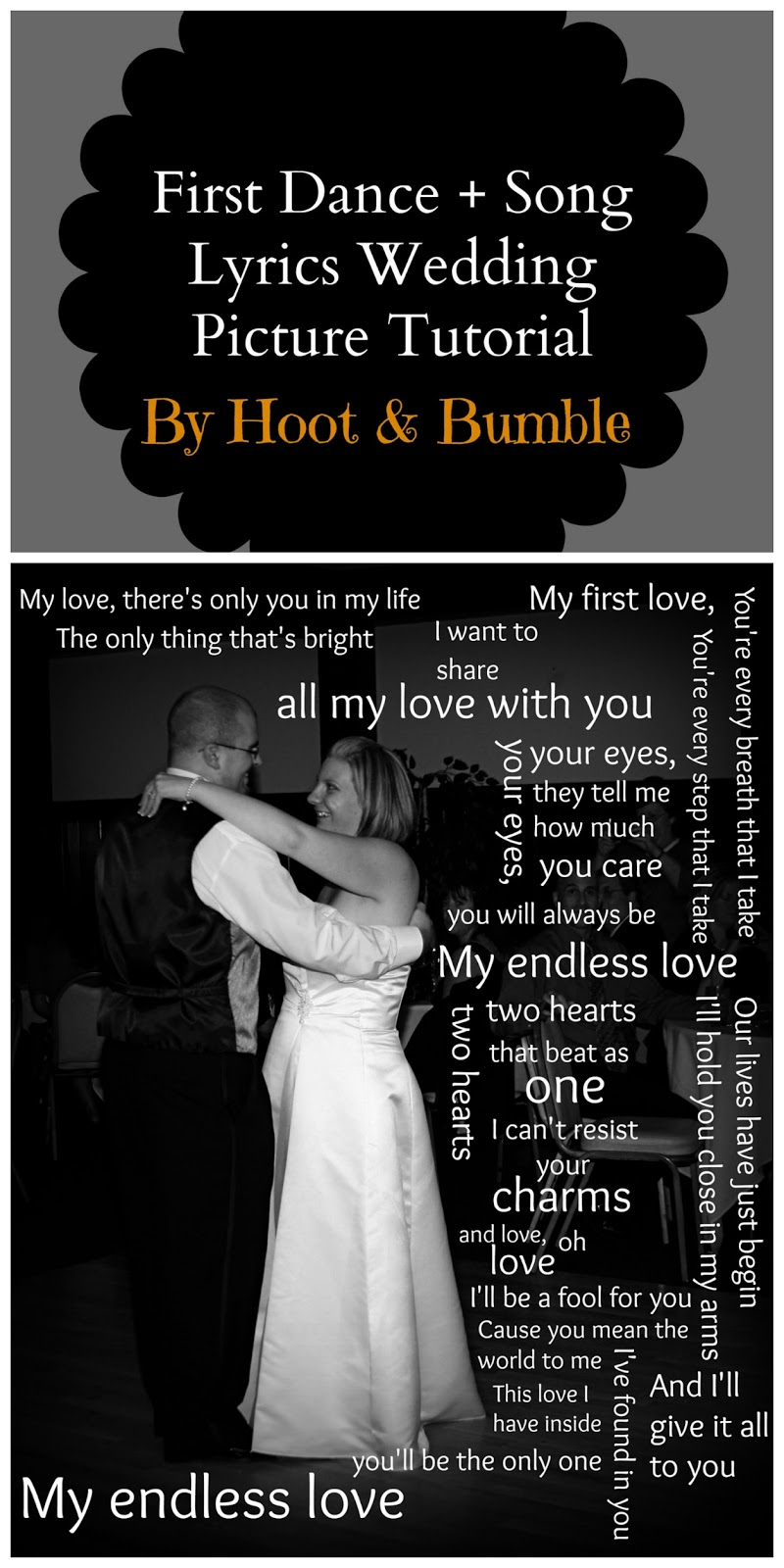 First Dance Song Lyrics Wedding Picture Part 2 How To Make A Photo Canvas
