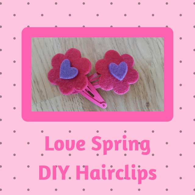 Love Spring DIY Hairclips