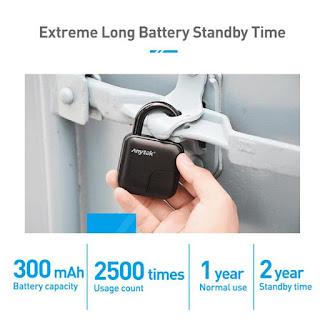Smart Keyless Fingerprint Lock USB Rechargeable Electronic Anti-Theft Security Padlock Waterproof Door Lock.