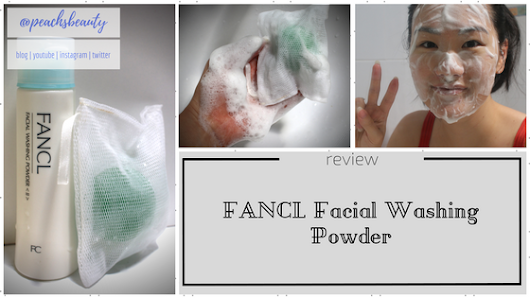 FANCL Facial Washing Powder | Review | peachsbeauty
