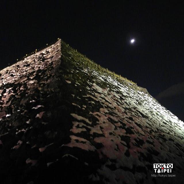 【甲府城跡】白雪明月搭配古城遺跡 360度遠眺甲府市夜景