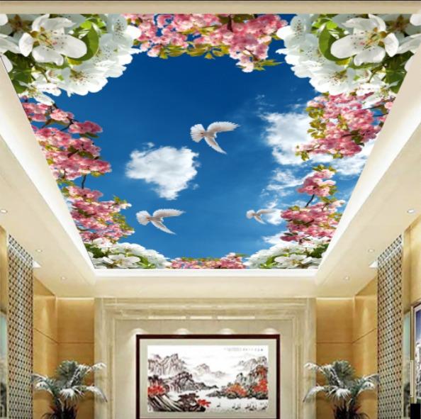 gambar awan dengan bunga bagus sekali