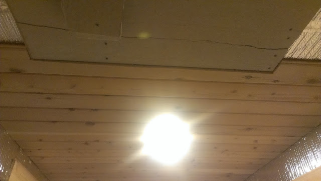 Cedar on the ceiling.