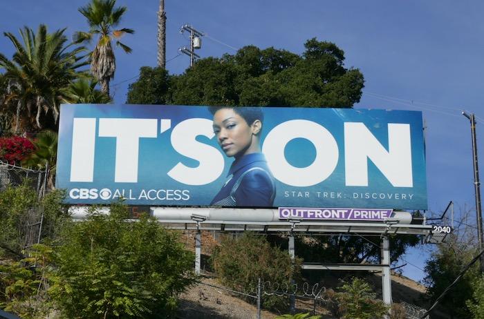 Its On CBS All Access Star Trek Discovery billboard