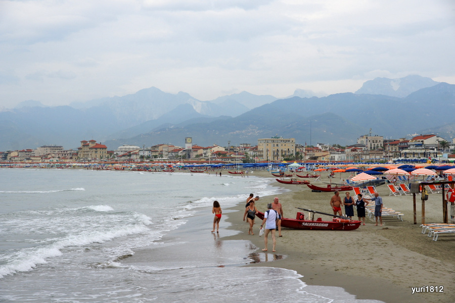 Пляж, Виареджо, Италия
