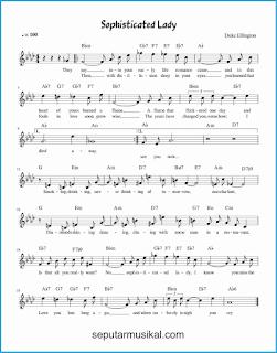 chord sophisticated lady lagu jazz standar