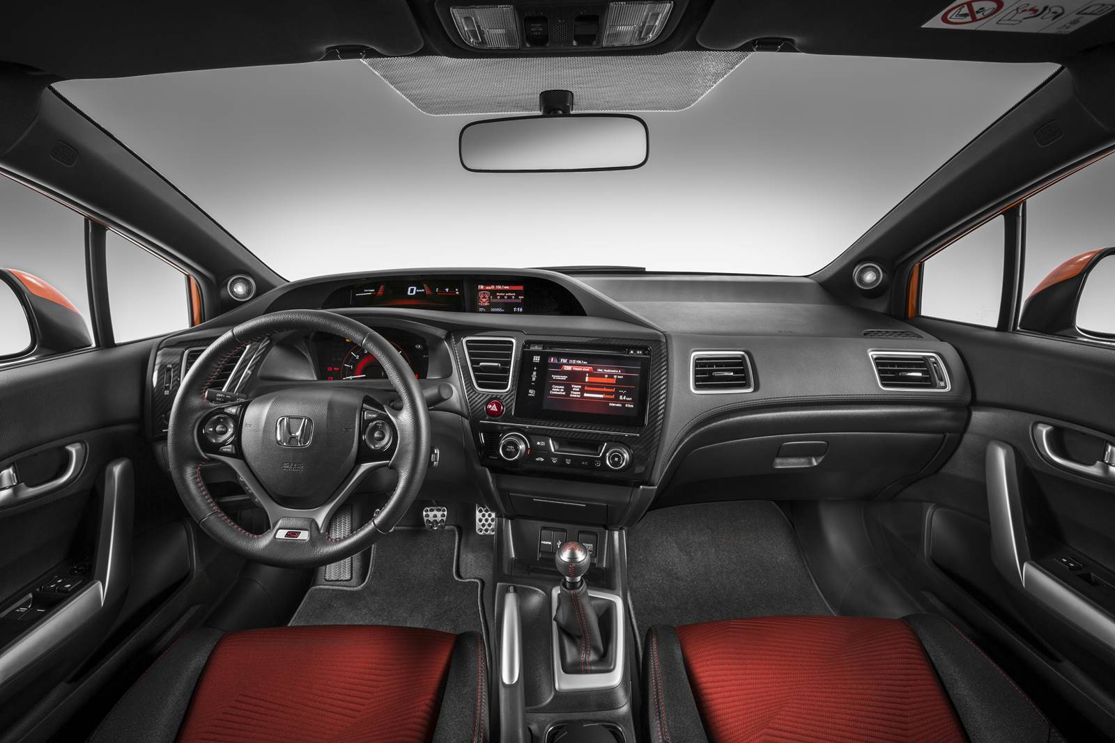 Honda civic si 2015 pre o itens de s rie e especifica es car blog br for 2014 honda civic si sedan interior