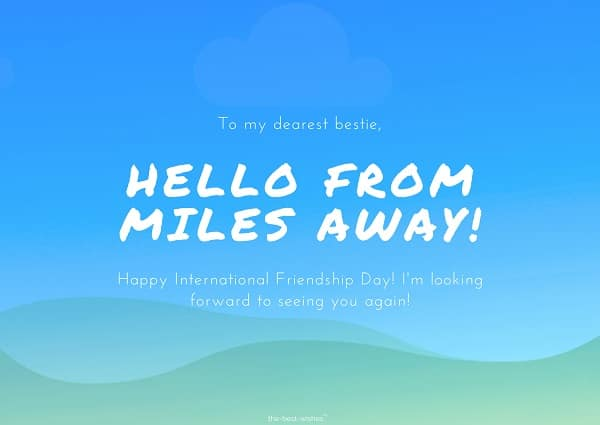 friendship day message for long distance