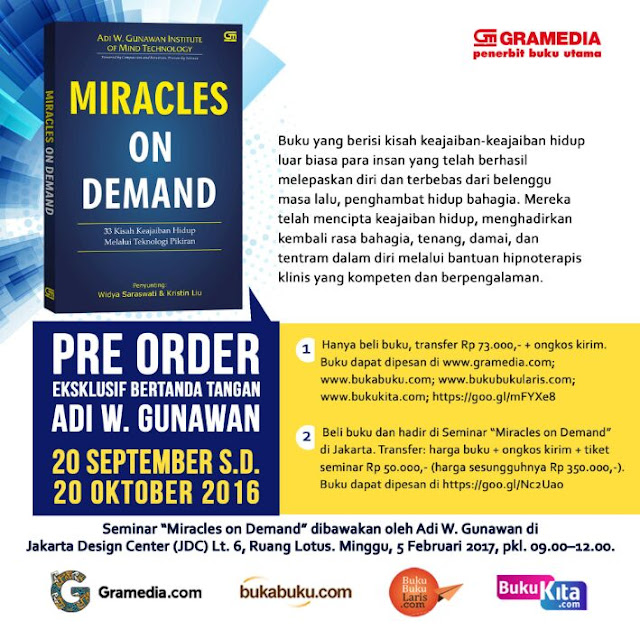 Miracles on Demand Gramedia