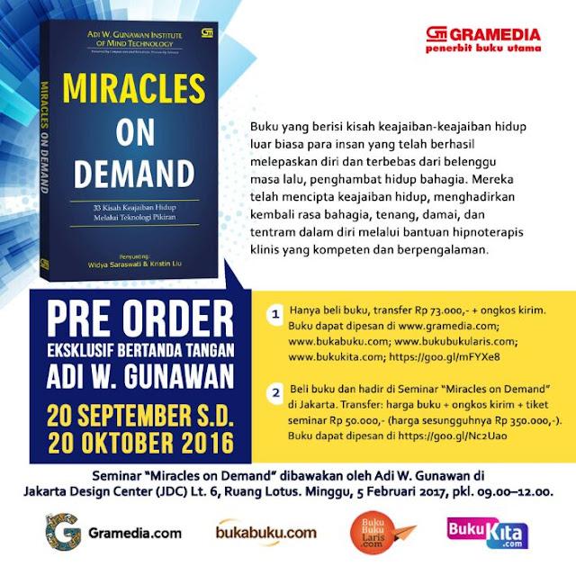 Miracles on Demand Gramedia