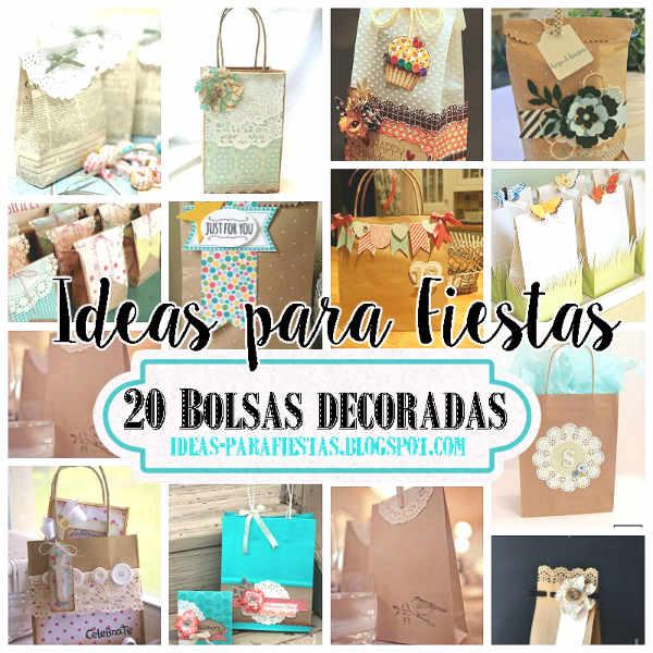 20 bolsas decoradas para fiestas ideas y paso a paso