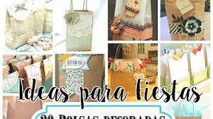 20 Bolsas Decoradas para Regalo o Souvenir / Tutoriales