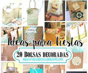 20 Bolsas Decoradas para Regalo o Souvenir / Tutoriales