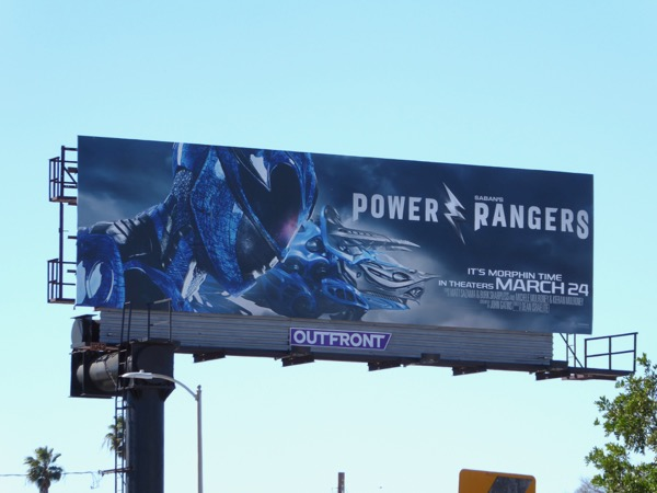 Power Rangers Blue Ranger billboard