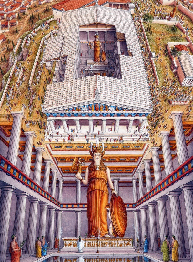 06-Parthenon-Athens-Stephen-Biesty-Historical-Architectural-Buildings-Inside-out-Drawings-www-designstack-co