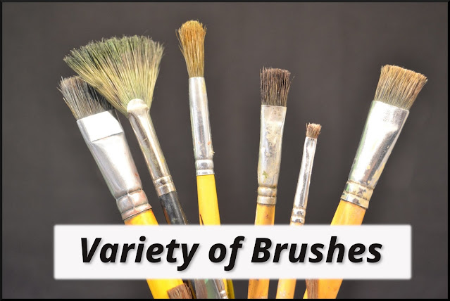 Multiple Brushes for acrylic Painting
