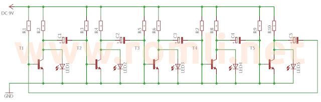 Running LED tanpa IC