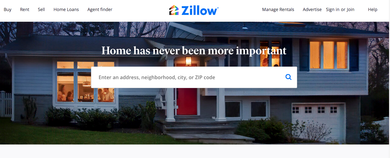 Zillow.com house buying selling enting
