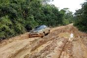 Jalan ke Desa Tanah Garo Semakin Ekstrem