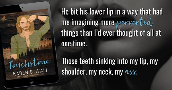 He bit his lower lip in a way that had me imagining more perverted things than I'd ever thought of all at one time. Those teeth sinking into my lip, my shoulder, my neck, my ass.