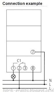 data sheet instalasi timer Theben SUL 181h