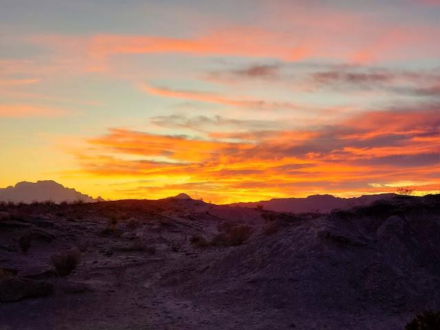 sunset big bend national park texas southwest